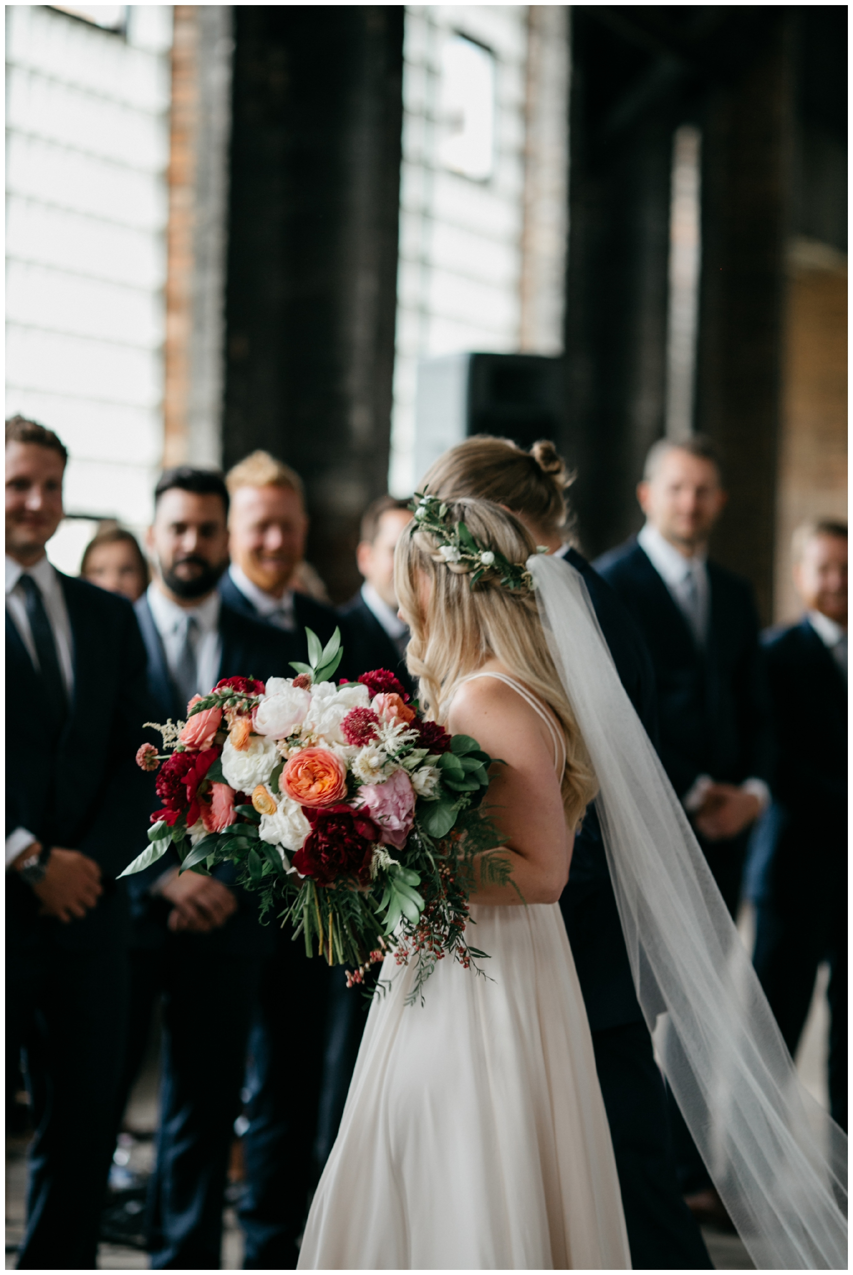 Indoor warehouse wedding in Brainerd MN