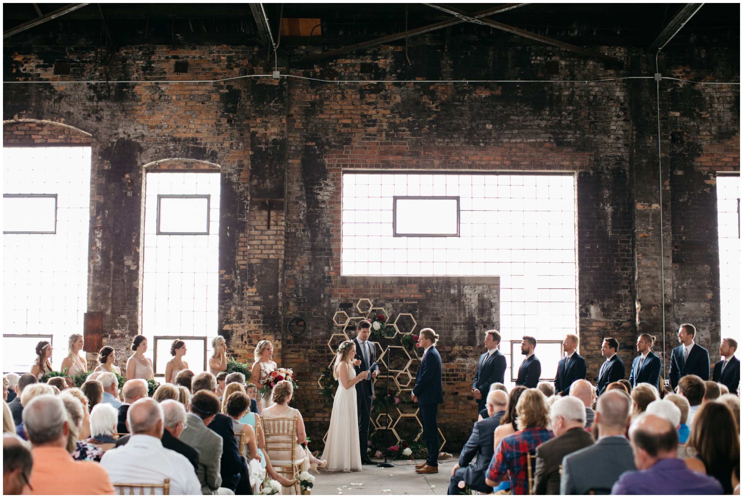 NP Event Space indoor wedding ceremony