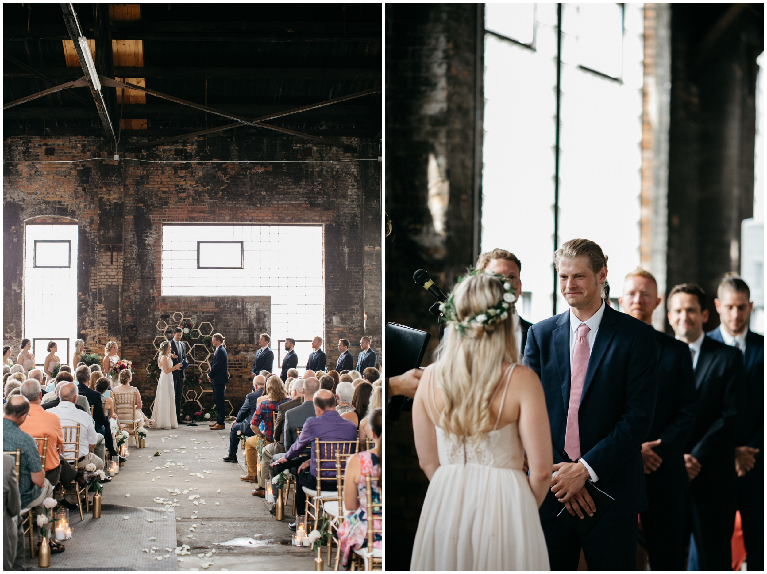 Romantic indoor wedding ceremony at the NP Event Space