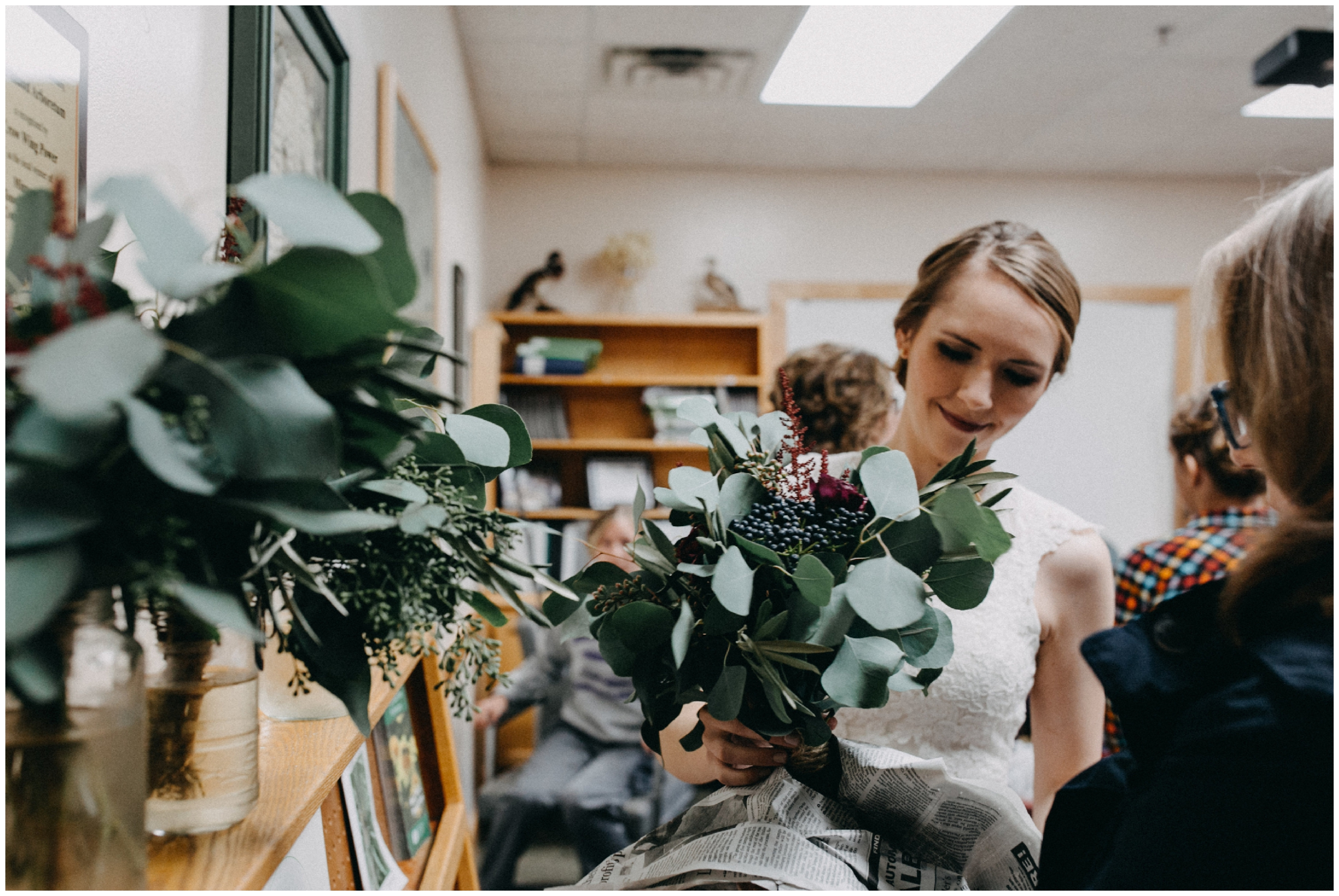 Eucalyptus wedding bouquet in Brainerd Minnesota