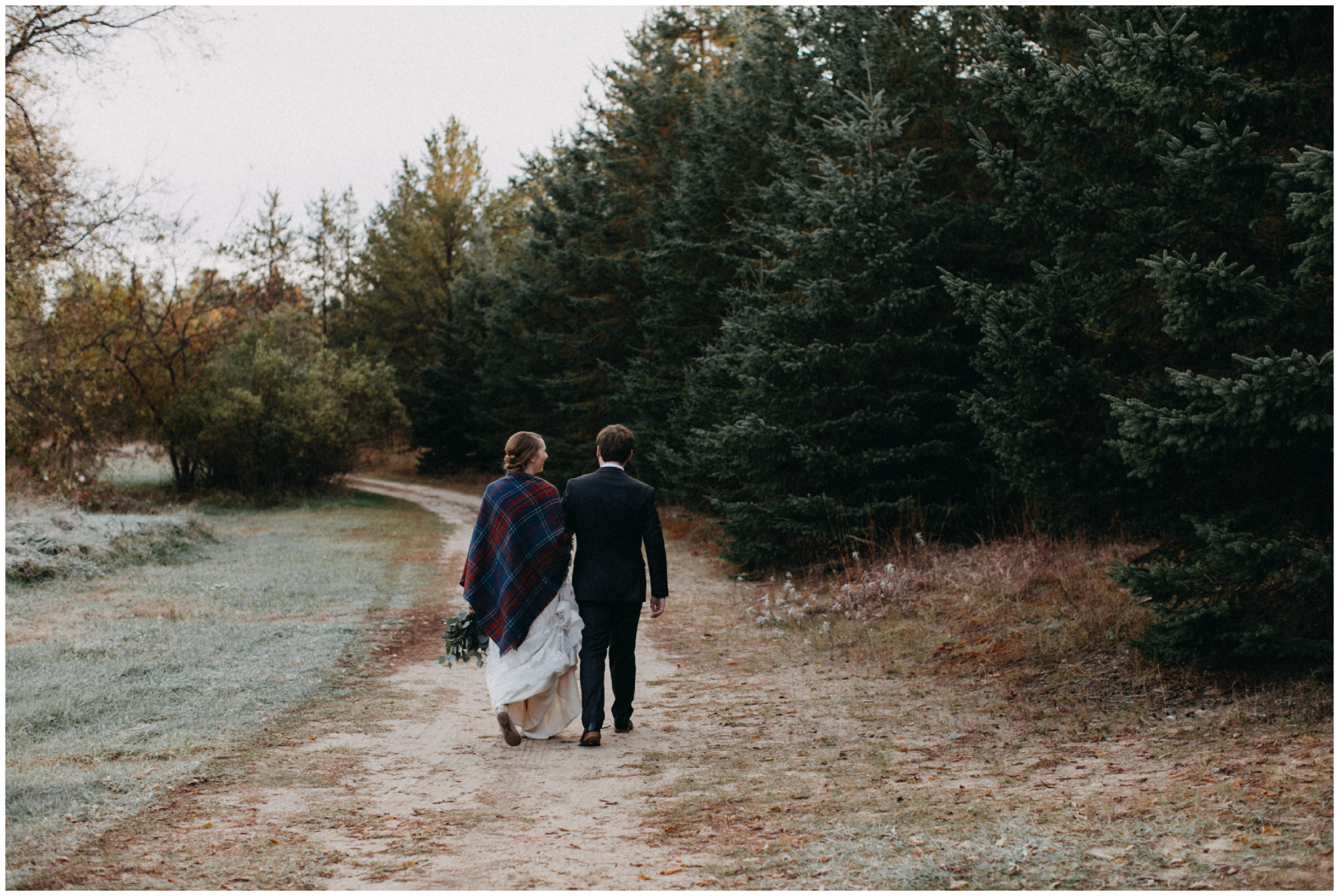 Romantic fall wedding at the Northland Arboretum in Brainerd Minnesota