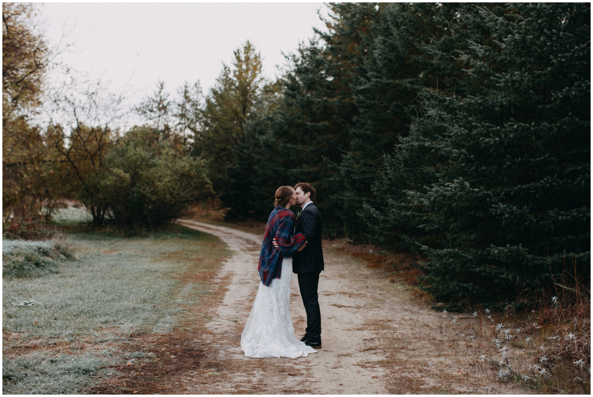 Romantic October wedding at the Northland Arboretum in Brainerd MN