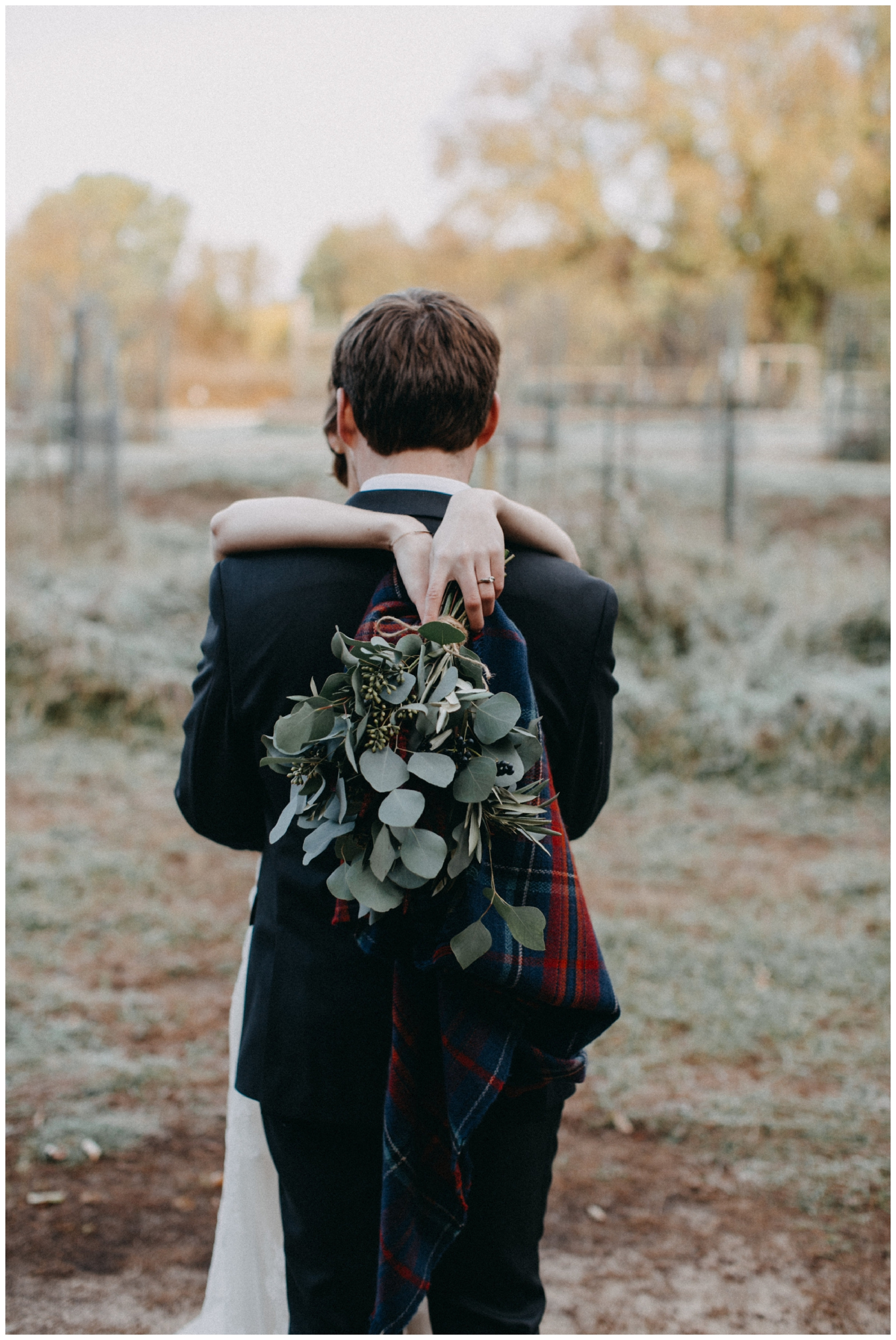 Romantic morning wedding at the Northland Arboretum