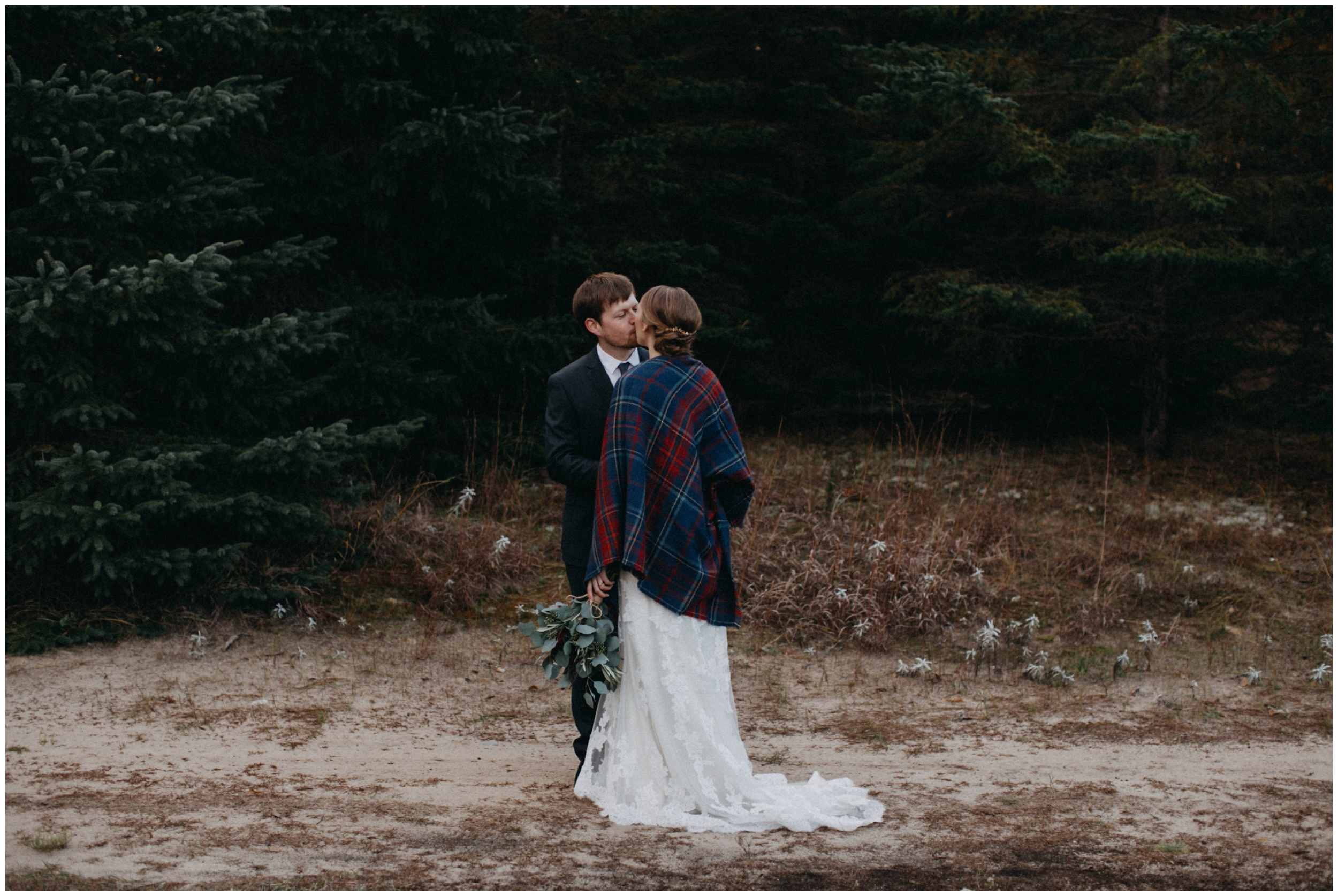 Moody and romantic fall wedding at the Northland Arboretum