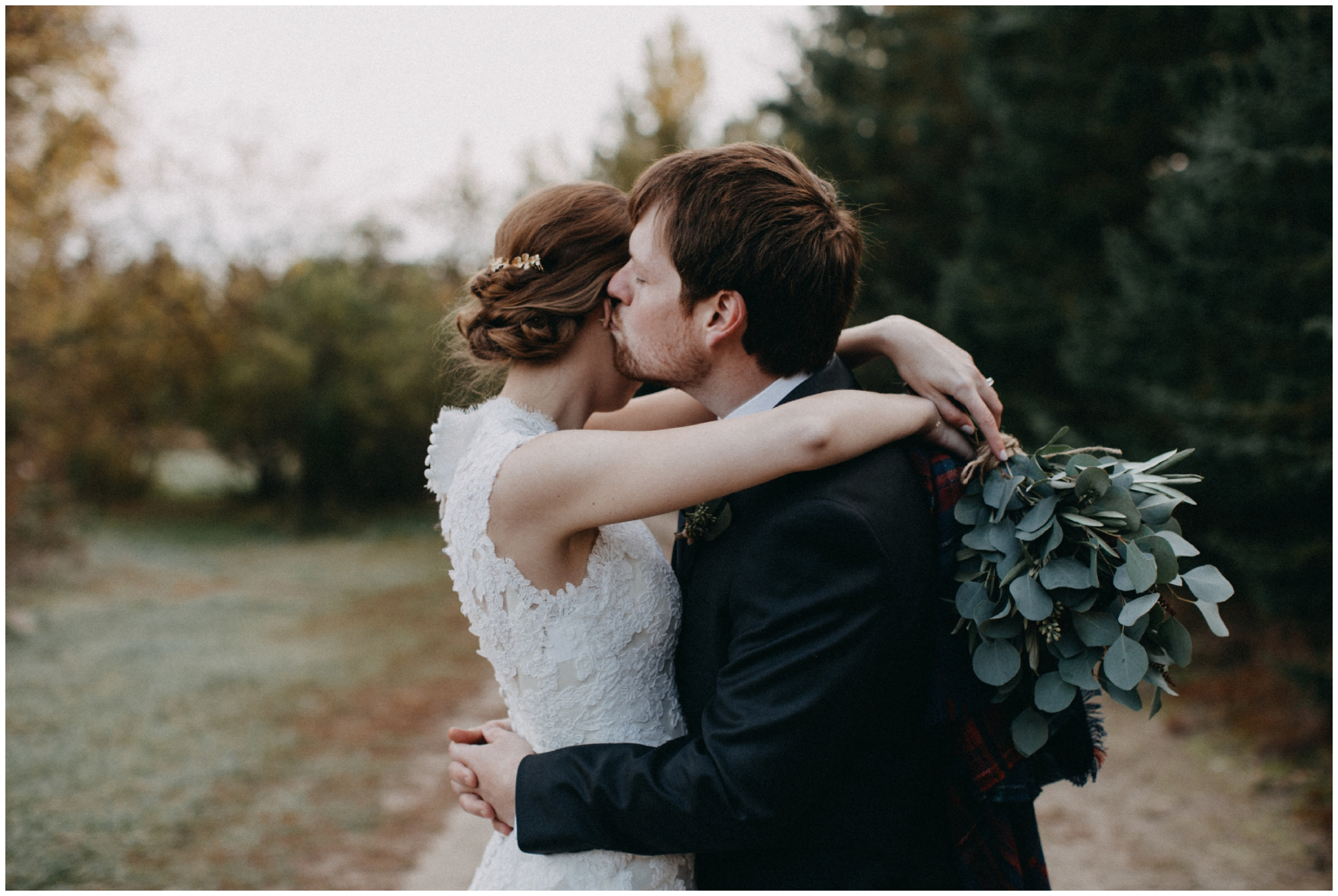 Simple and causal wedding at the Northland Arboretum
