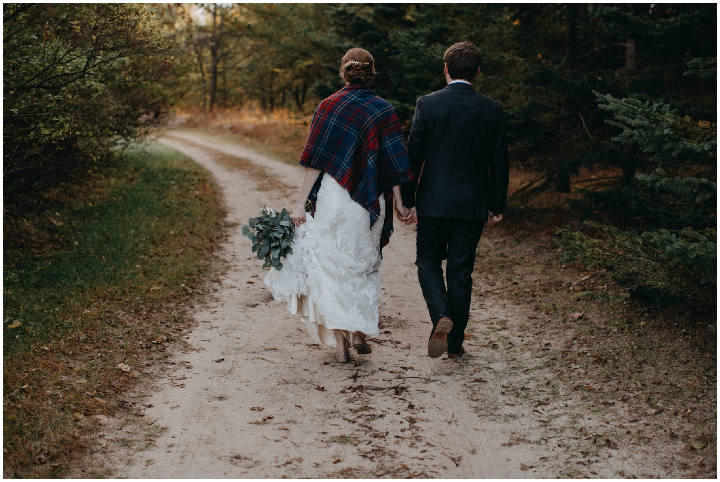 Intimate wedding at the Northland Arboretum