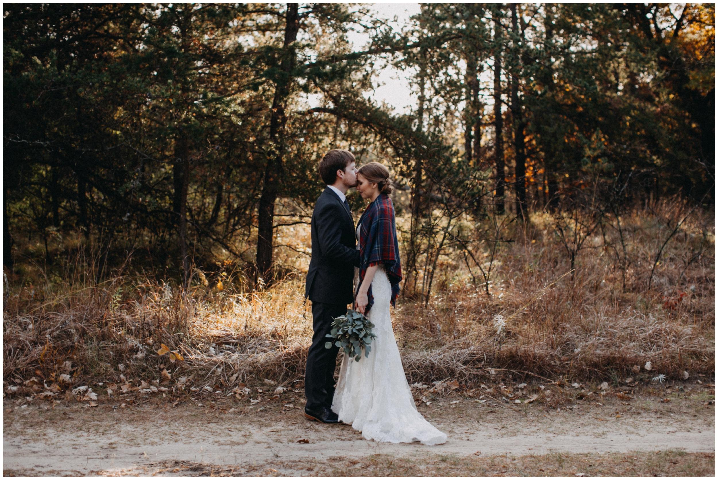 Quaint fall wedding at the Northland Arboretum