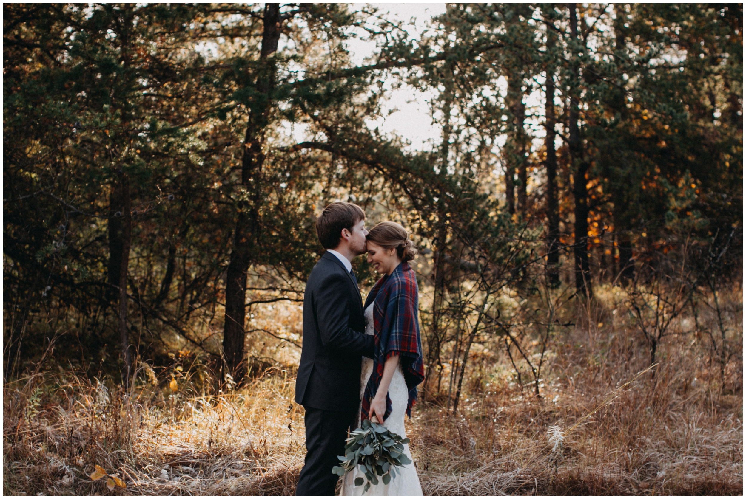 Intimate October wedding at the Northland Arboretum