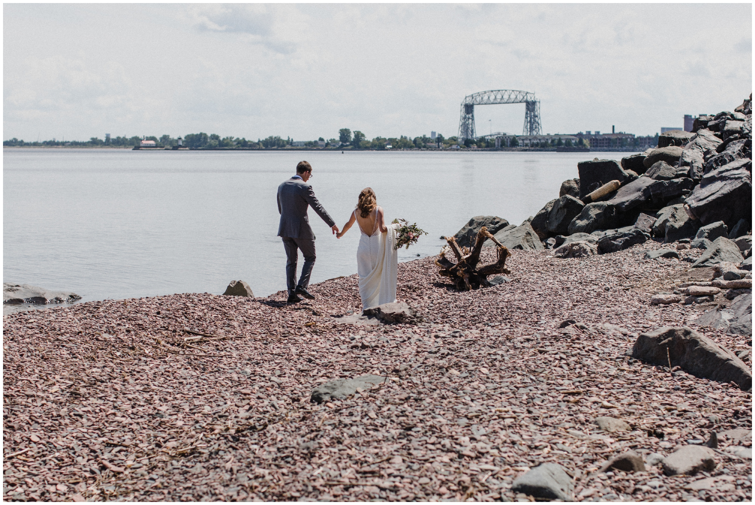 North shore wedding in Duluth Minnesota