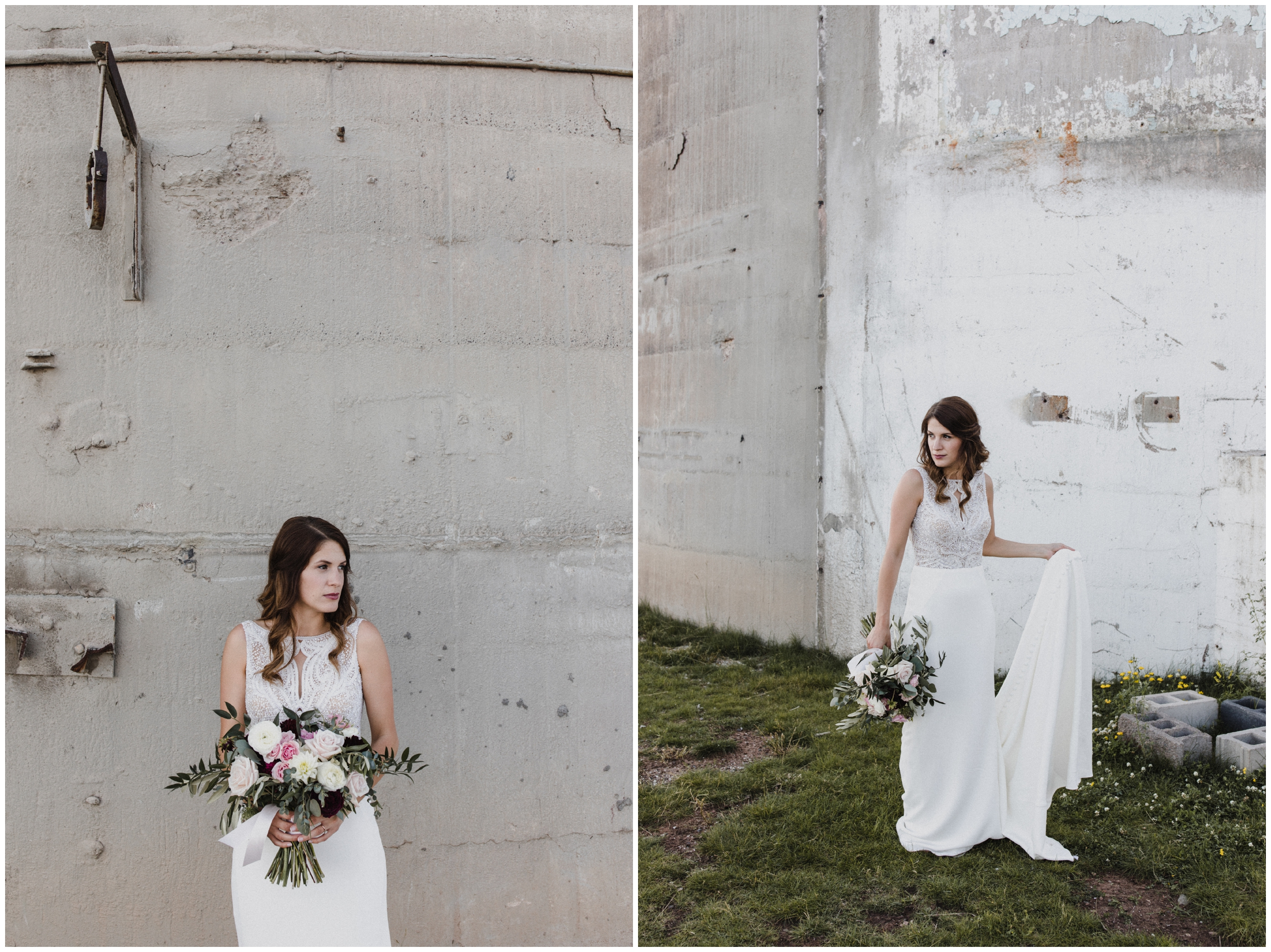 Modern industrial wedding in Duluth Minnesota