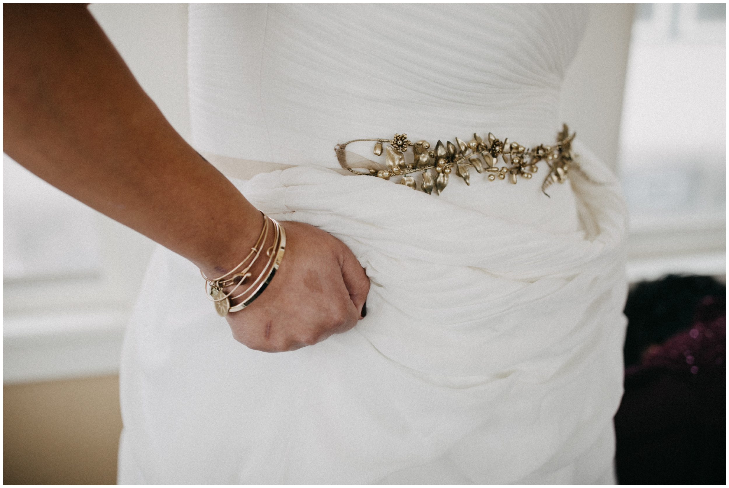Grecian inspired bridal style gold belt and bracelets in Minneapolis Minnesota