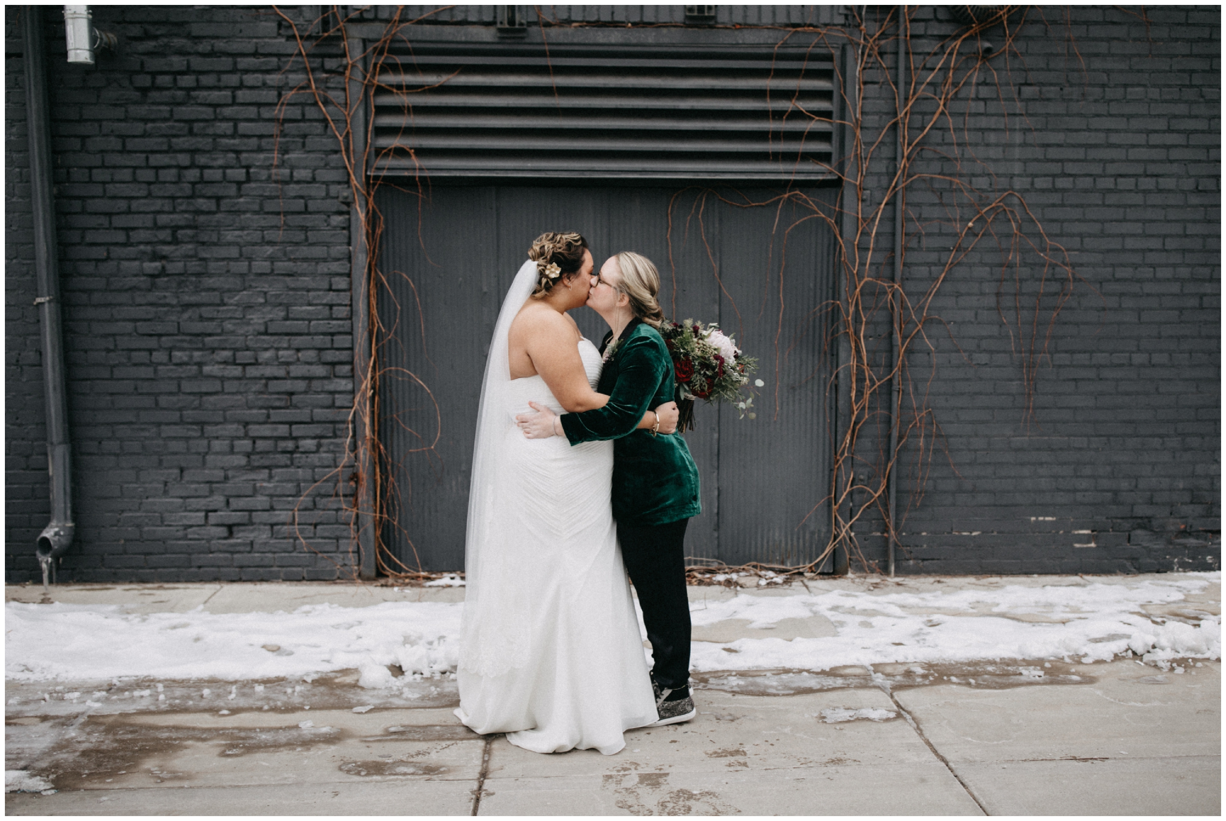 Industrial chic winter wedding at Paikka