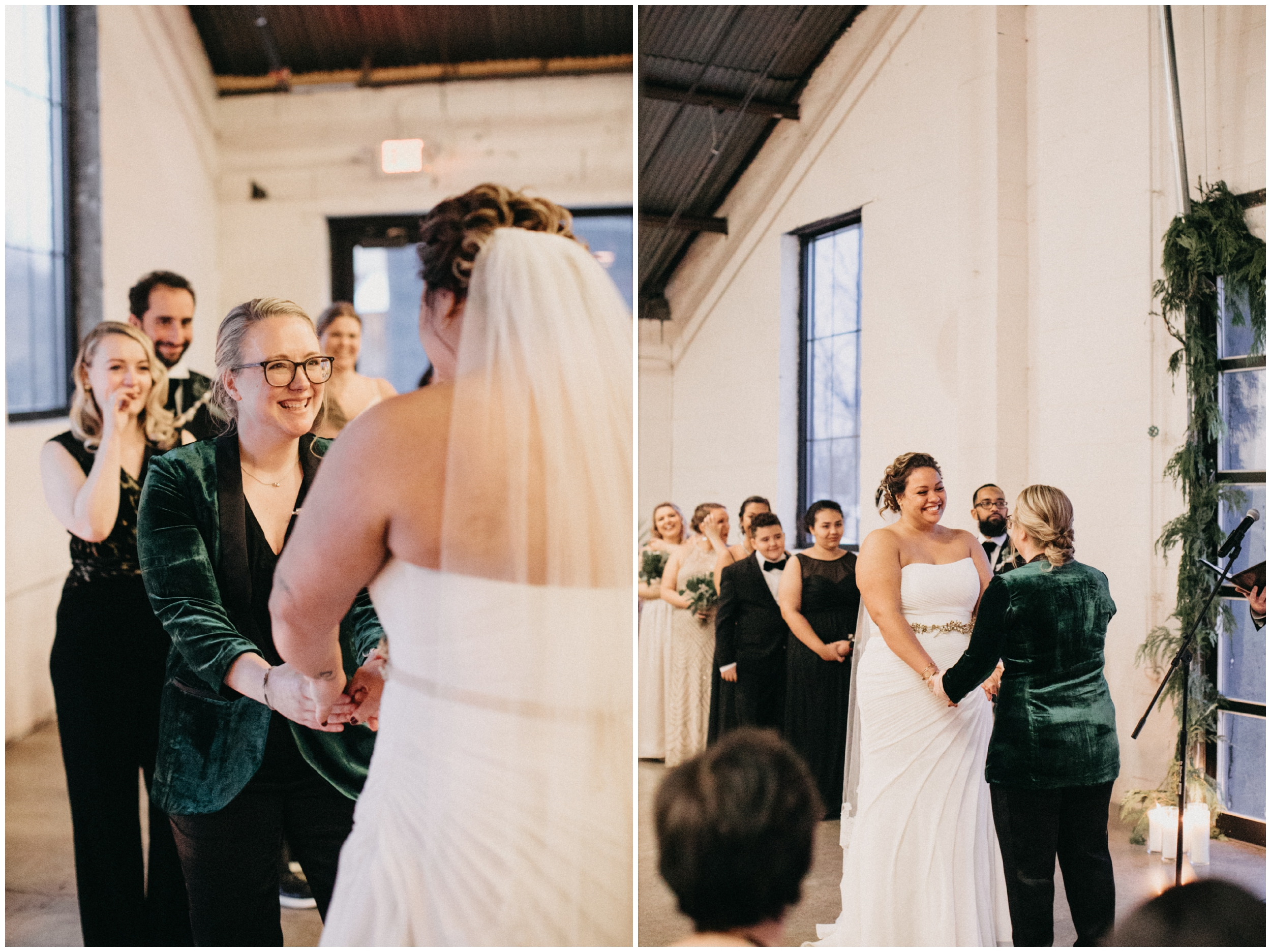 Emotional wedding ceremony at Paikka in St Paul Minnesota
