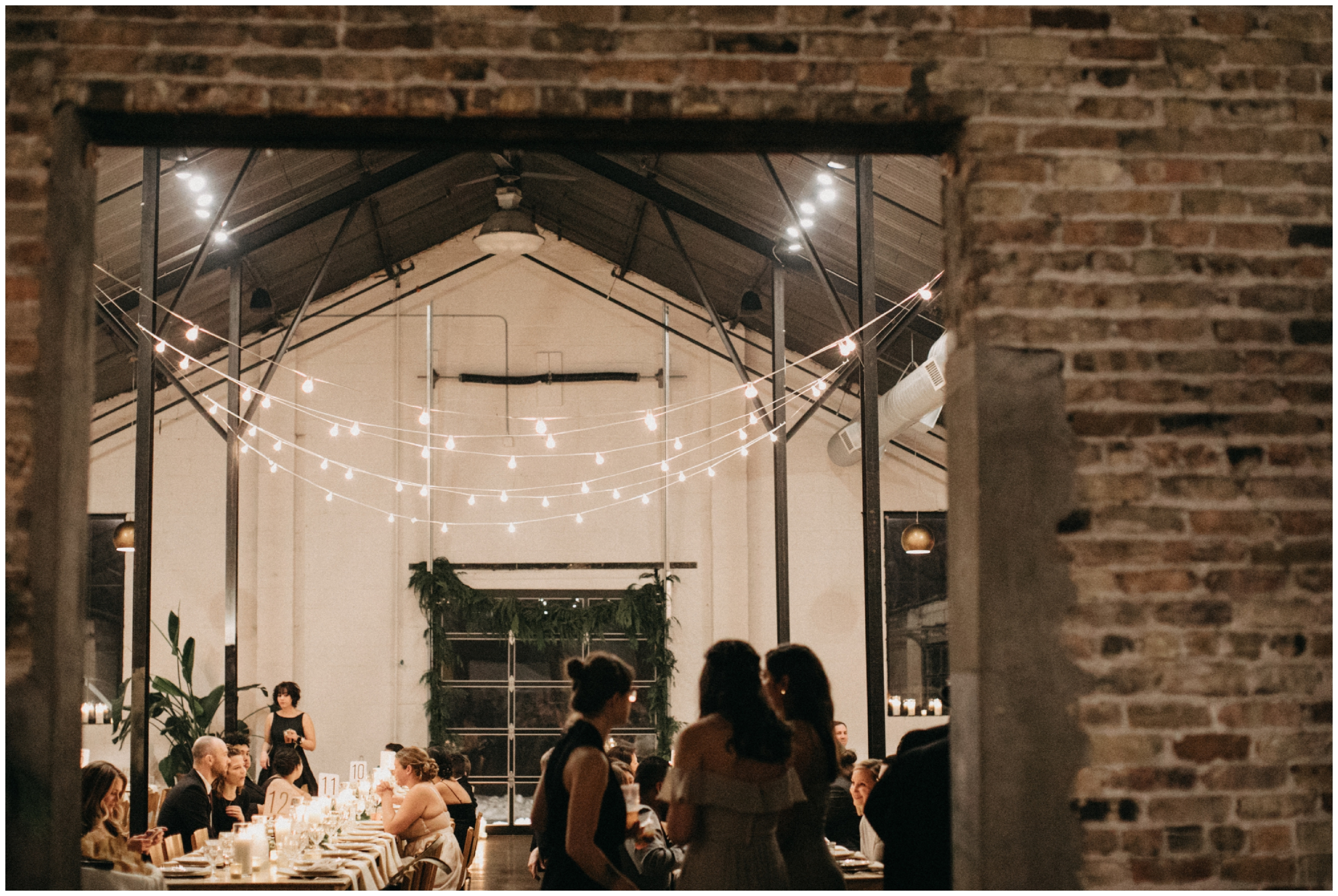 Industrial wedding reception at Paikka in St Paul Minnesota