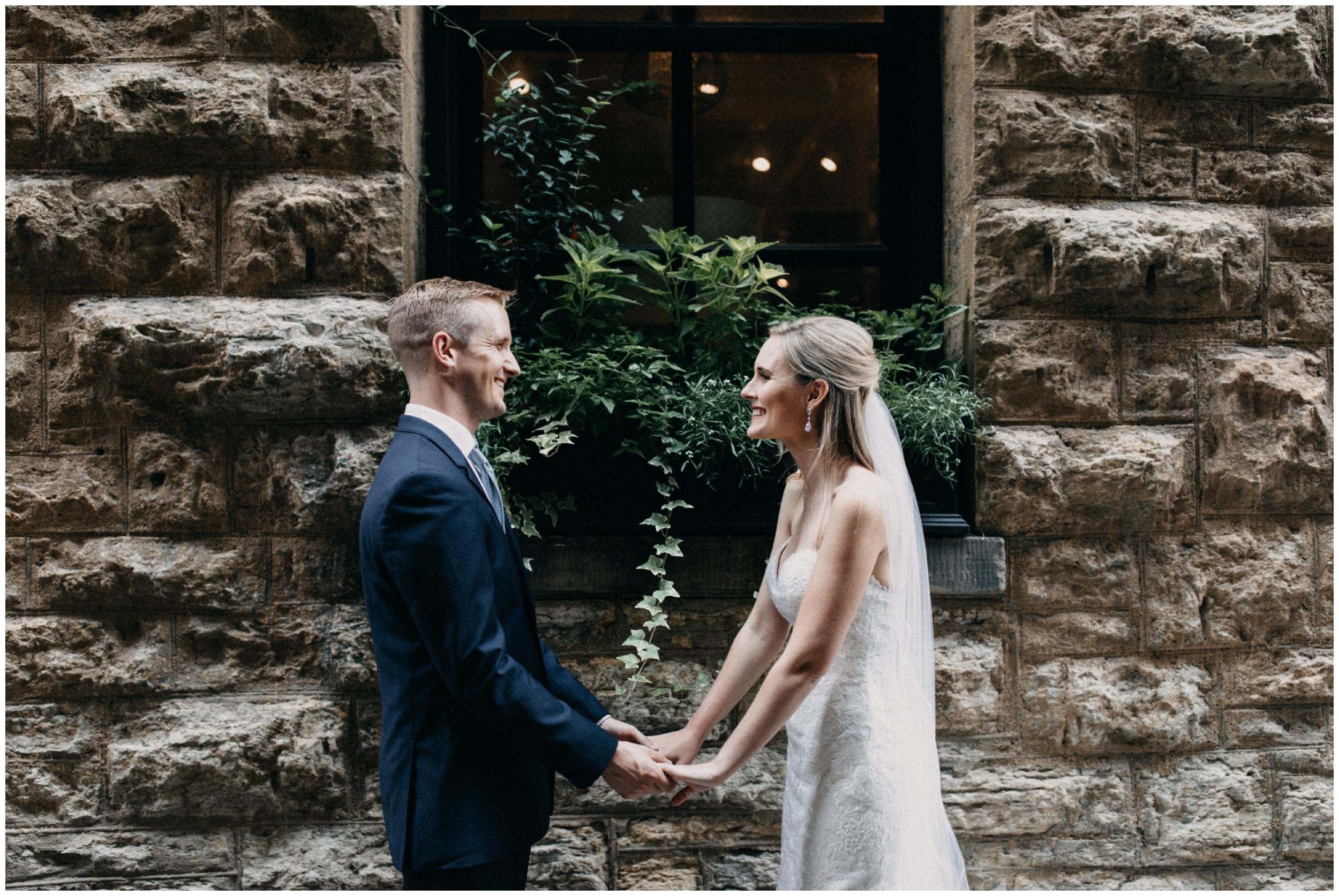 Elegant industrial wedding in the north loop of Minneapolis
