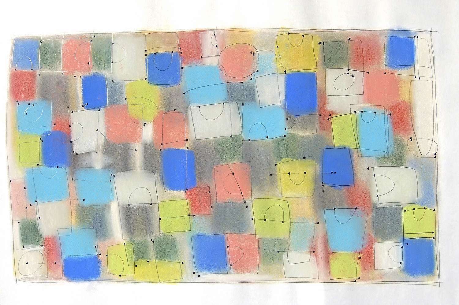 """cento  2010 Pastel, pencil and ink on paper. 36¼"""" x 24"""""""