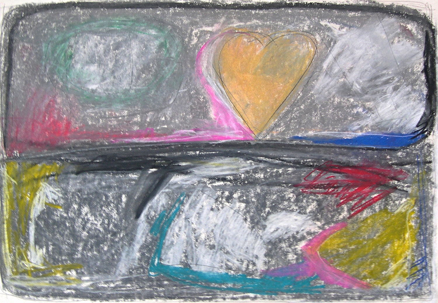 """storybook  2006 Pastel and pencil on paper. 28¾"""" x 22¾"""""""