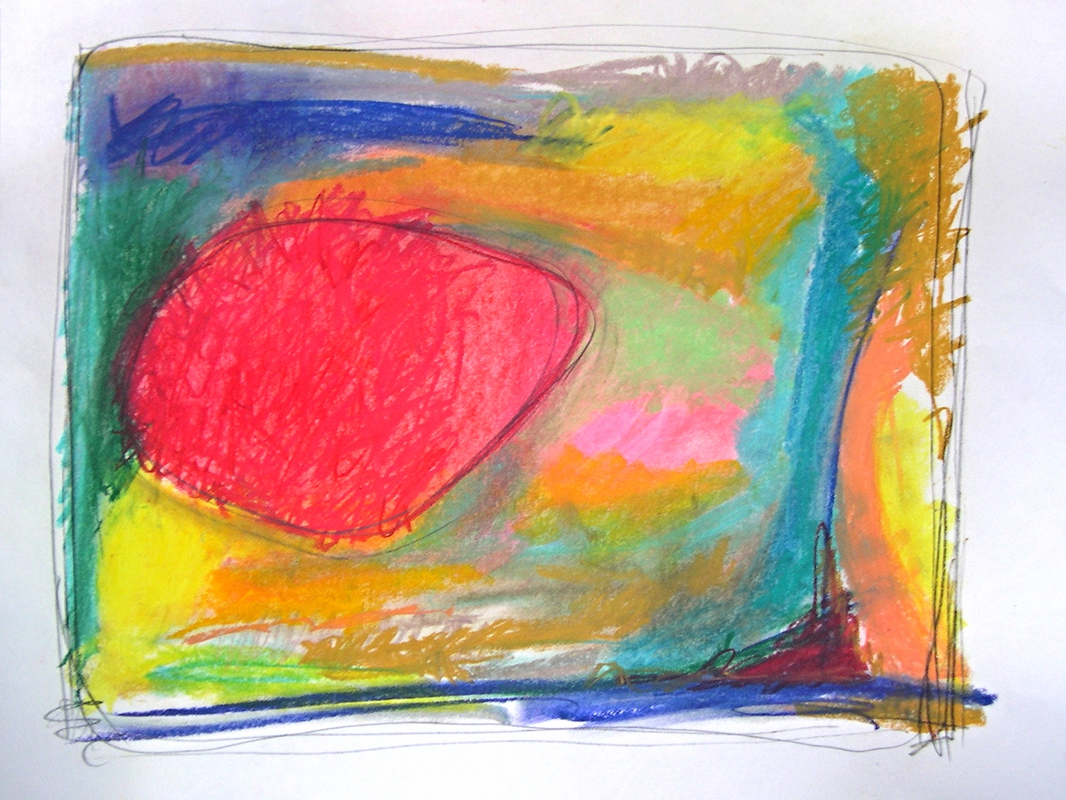 """atropos 2006 Pastel and pencil on paper. 28¾"""" x 22¾"""""""