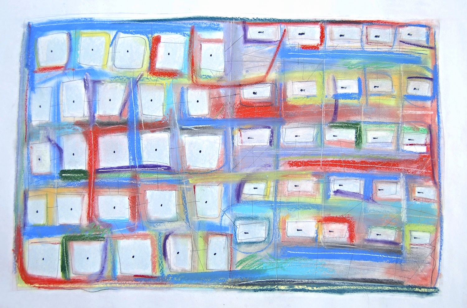 """fifty 2010 Pastel, pencil and ink on paper. 28¾"""" x 22¾"""""""