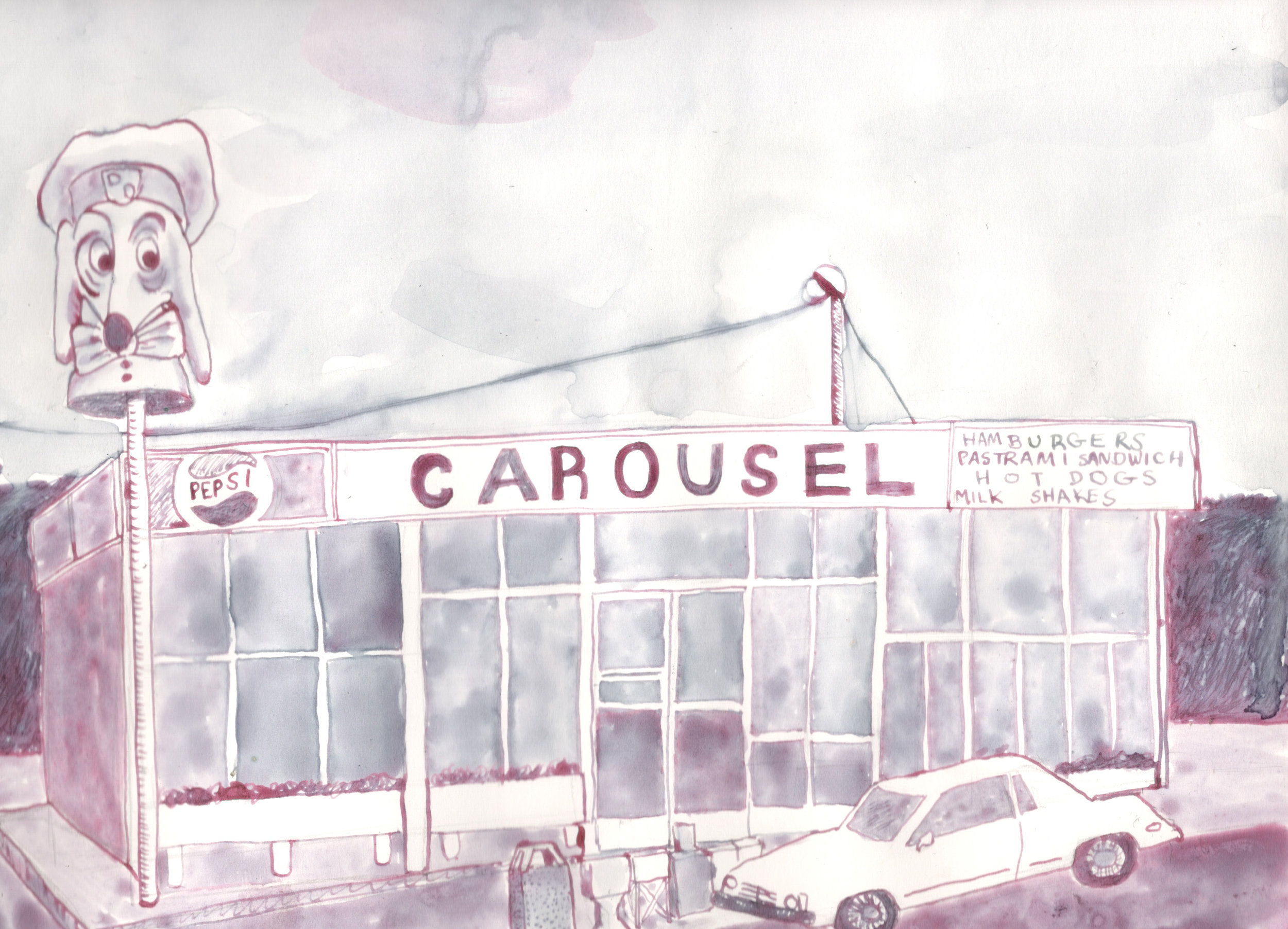 Carousel Restaurant (Doggie Diner), 1974