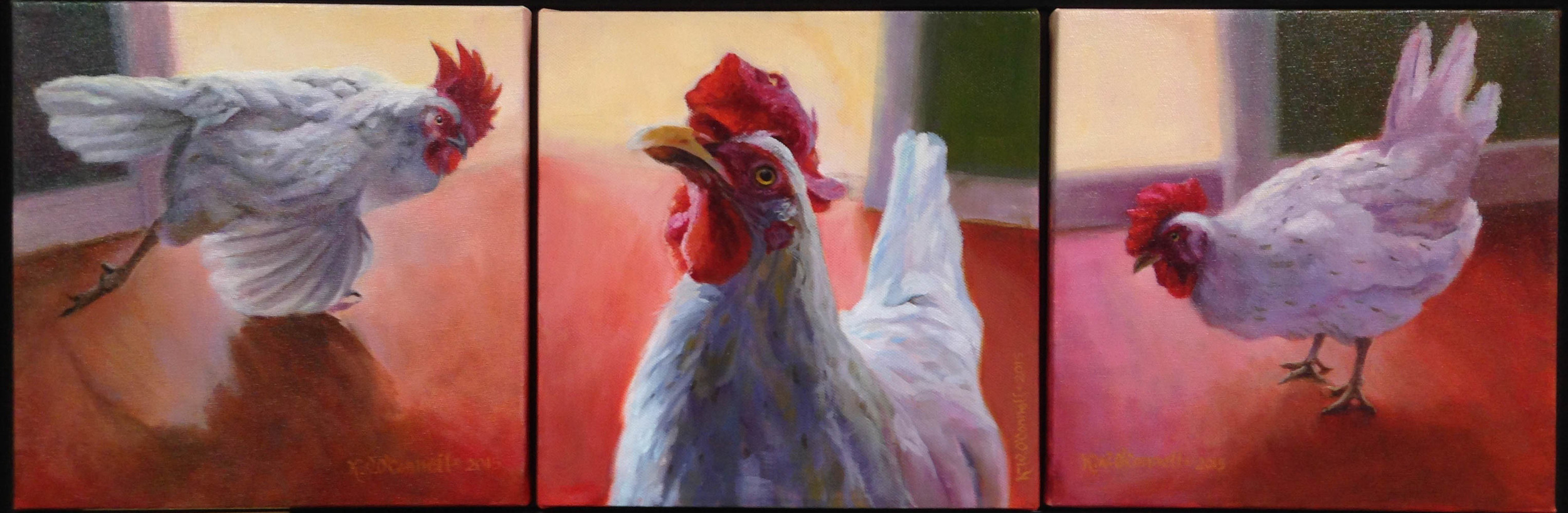 """Kathleen O'Connell, """"Chicken Dance Trio"""", Honorable Mention"""