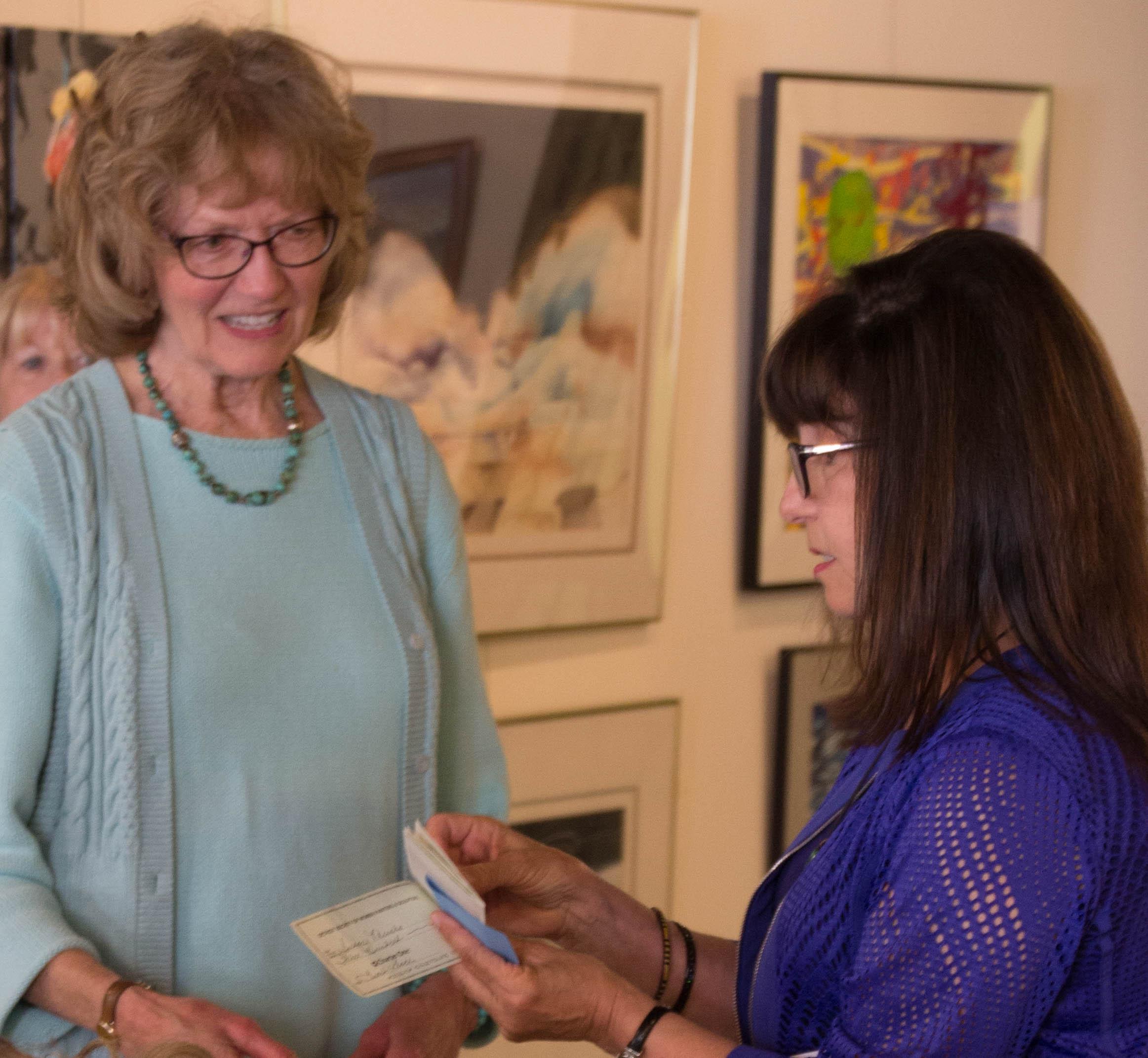 Janet Almstadt-Davison (honorable mention) and Deborah Benedic