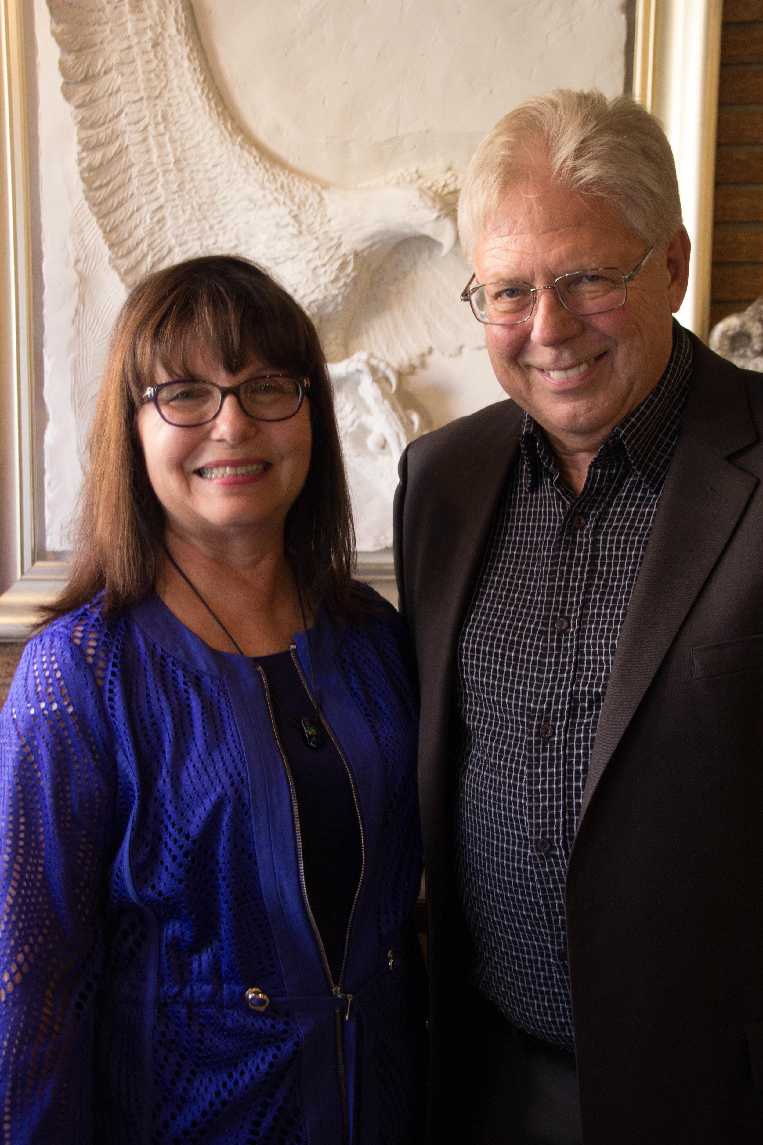 Deborah Benedic and Nelson McKinnon, owners of The Loft Fine Art
