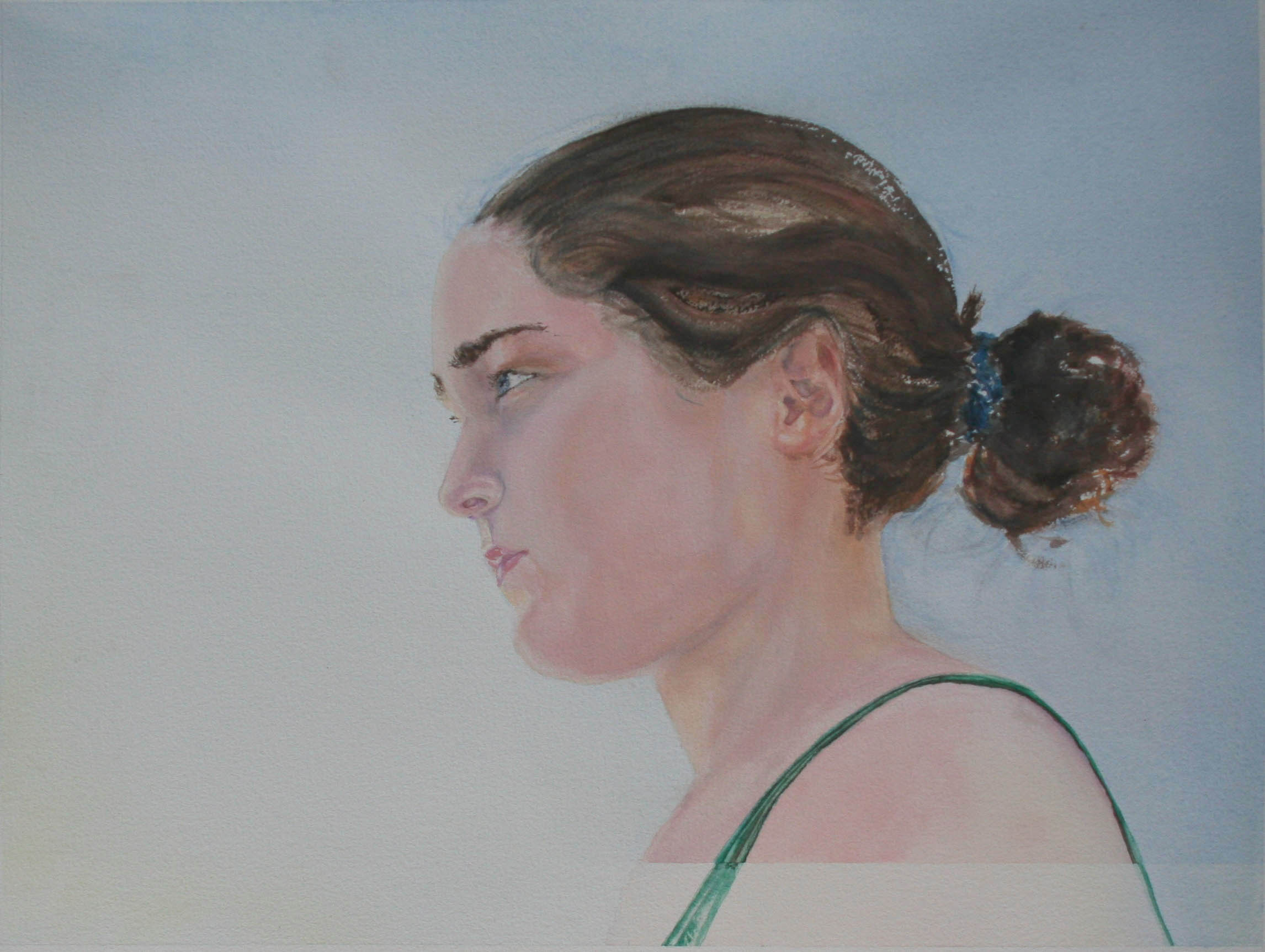 Looking Backward, watercolor