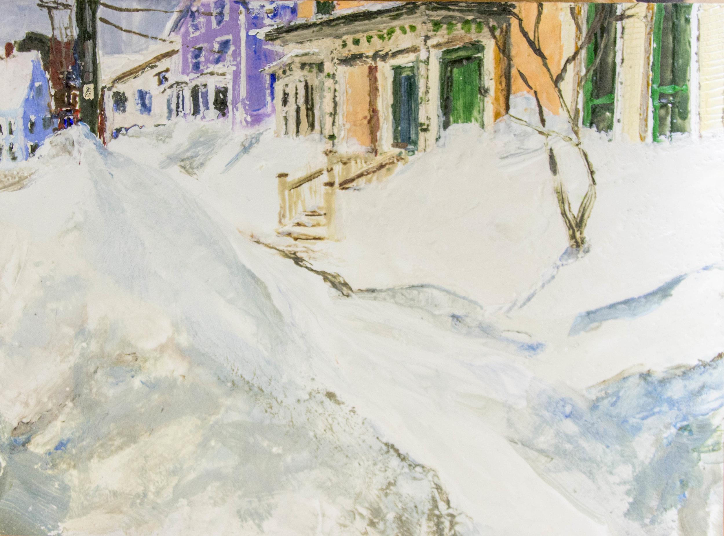 Big Snow, encaustic