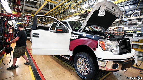 """The Economist says Ford's new aluminium truck is a """"game changer""""."""
