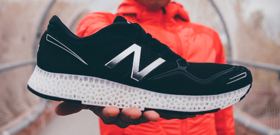 New Balance now 3D-prints part of its shoe — as Wallman forecast back in 2009.