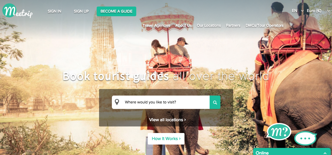 Meetrip  has more than 10,000 guides around the world