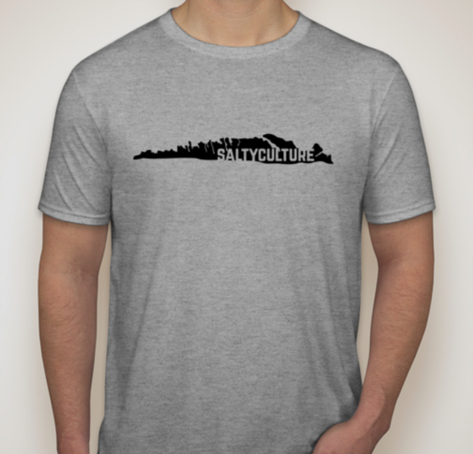 Be one of the first to have a Salty Culture t-shirt for $15! Limited sizes available!