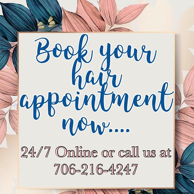 #jthomassalonandspa #booknow #wehaveopenings