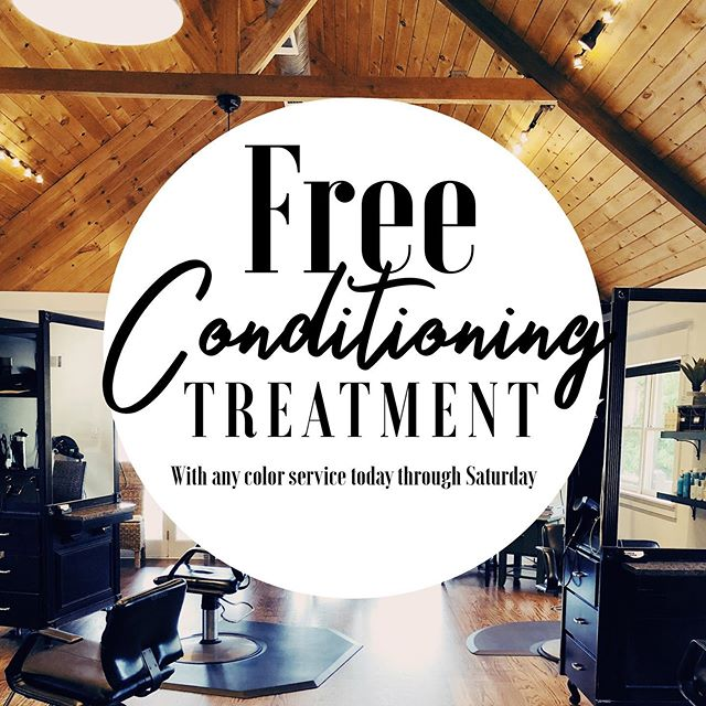 What's a better way to wrap up your summer than getting a FREE conditioning treatment?!? Book any color service now through Saturday and receive a complimentary conditioning treatment on us🥰 (mention at booking to get the free service) 706.216.4247