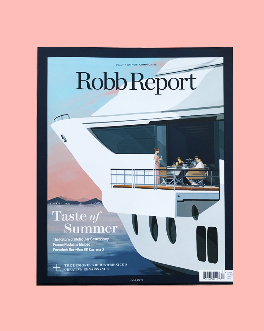 Robb Report  -  July '19 cover artwork