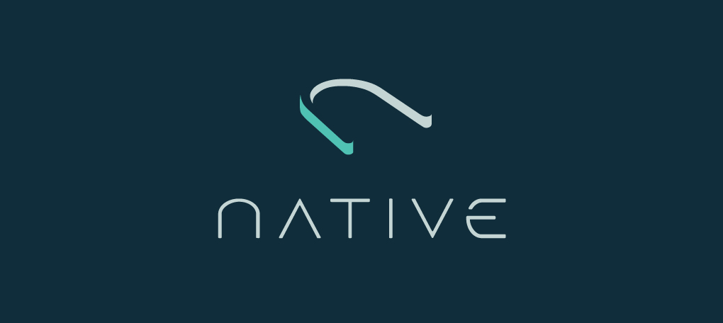 The Native logo and its wordmark on top of the company's primary color.