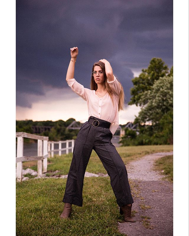 Spectacular moments with Hannah in Clarksville. Always enjoy shooting together - such a talented friend!  #fashion #model #summer #storm #rain #naturallight #photography #film #nashville #tn