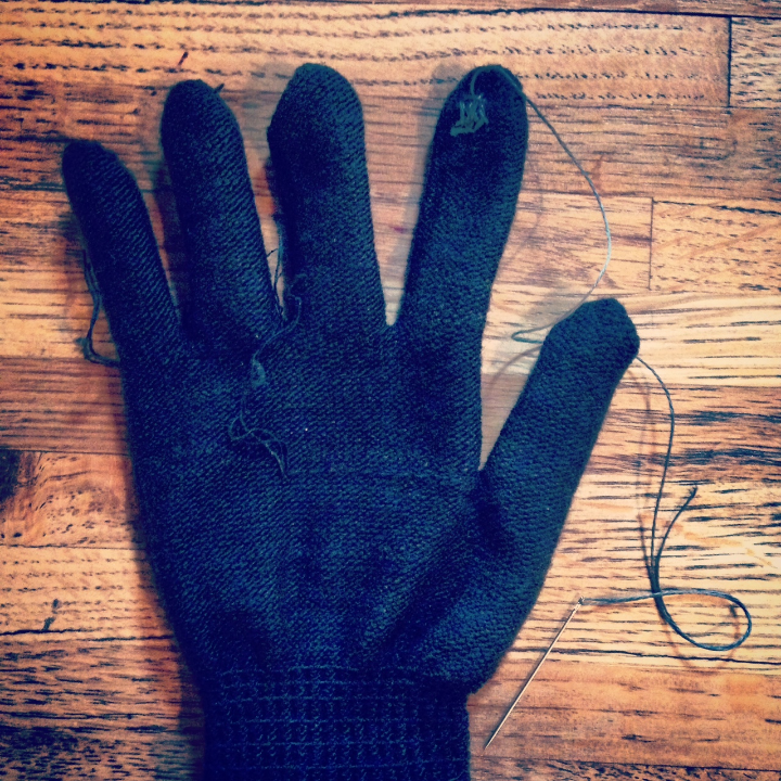 blink blink conductive thread glove