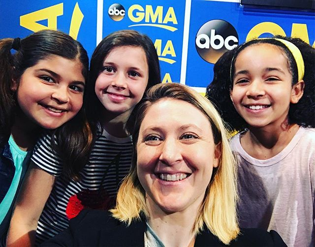 The lovely ladies who did a fabulous job making circuits on @goodmorningamerica !!! Thank you Sam, Ava, and Isabella!