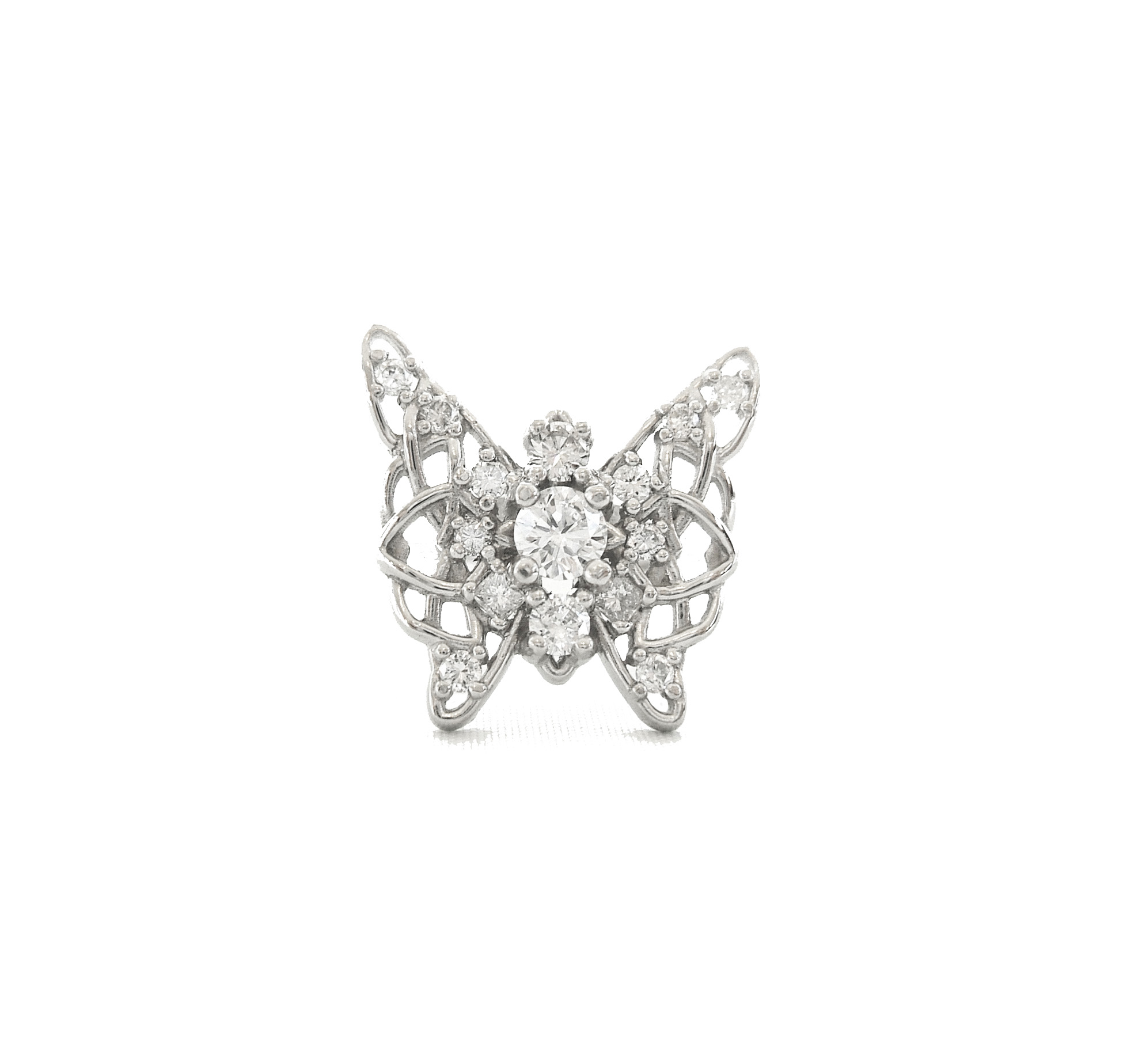Diamond Engagement Butterfly Ring