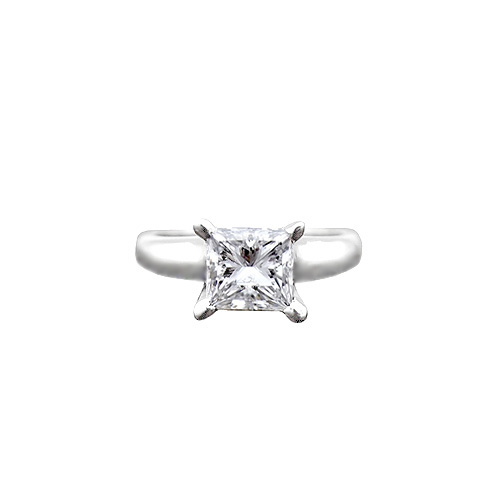 Princess Solitaire Engagement Ring