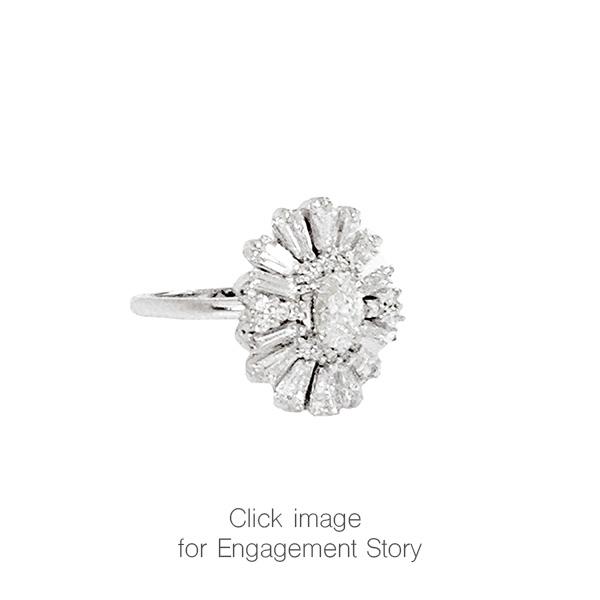 Diamond Ballerina Engagement Ring