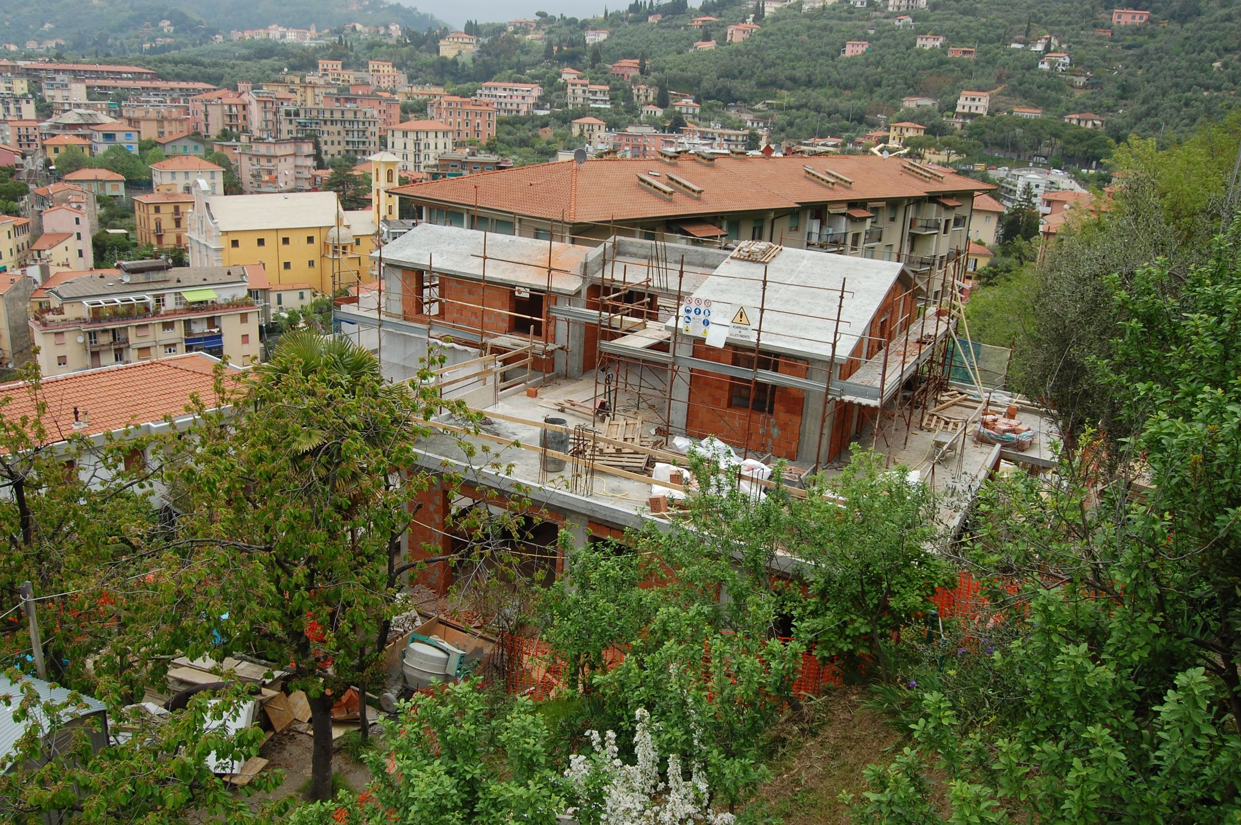 Exterior of Villa Giulia under construction 26 April 2015