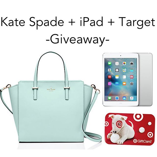 -----  Go to @3brunettesboutique  We're giving one lucky follower an iPad Mini, $200 Target Gift Card and Kate Spade Handbag in your pick of available color!  Please follow ALL rules 1-4 below.  1.FOLLOW me @hauteashbury 2.LIKE this photo.  3.GO TO  @3brunettesboutique and FOLLOW HER. 4.REPEAT Rules 1-3 in every photo in the loop until you make your way back here! Please remember YOU MUST FOLLOW all the shops and bloggers sponsoring this to qualify.  Once you've made your way back here, you have completed your entry. All entries must be submitted by 4/27/16 10:00PM EST. We ask that PRIVATE accounts are made PUBLIC during the giveaway in order to be entered. The winner will be announced on 4/30/16. Previous hosts, friends and family of sweepstakes hosts/sponsors are not eligible to enter.  Not redeemable for cash.This is open internationally, however you may be responsible for shipping charges/customs if applicable.  Anyone who unfollows within 2 weeks of the giveaway close will not be eligible to enter future giveaways. (We have an app to check!) Prizes must be claimed within 24 hours or they will be forfeited. Good luck!  This is in no way sponsored, administered, or associated with Instagram, Inc, Kate Spade, Apple or Target.  By entering, entrants confirm they are 13+ years of age, release Instagram of responsibility, and agree to Instagram's term of use. The logos shown in the photo belong to the respective brands and no copyright infringement is intended. No purchase necessary. Void where prohibited by law.