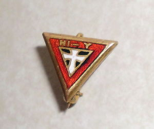 A Hi-Y pin that would have been worn by club members.