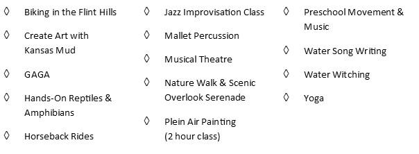 3:00 pm Music, Prairie & Art Classes