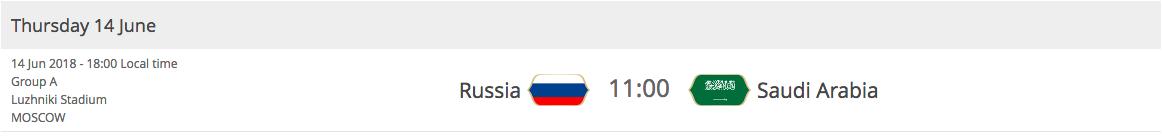 2018 FIFA World Cup - Russia VS Saudi Arabia