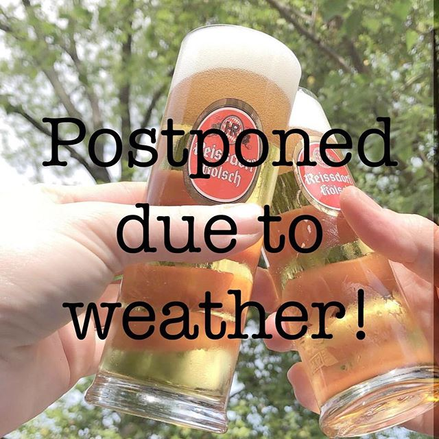 Unfortunately our plans for an outdoor beer garden with Kolsch, Brats and lots of Good Times have been superseded by Mother Nature. The potential for rain, strong wind gusts and hail have led us to push this event back a few weeks. We'll post here and all the normal social channels when a date has been confirmed. Otherwise, we'll still have stellar service, killer food and a few drinks for your Saturday!