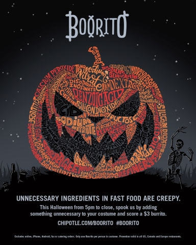 Chipotle's Boorito Ad. Obtained from Business Wire.